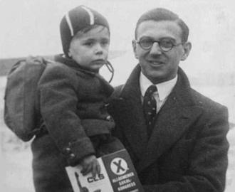 Nicholas Winton e uma das suas crianças -Fonte - http://papodehomem.com.br/