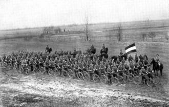 Infantaria ciclística alemã durante a I Guerra Mundial (1914)