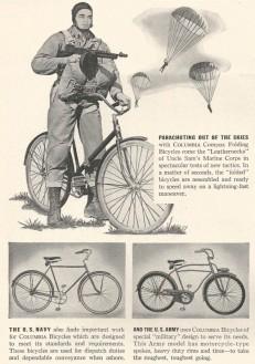 Bicicleta dobrável projetada para uso por paraquedistas (1941)