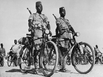 Membros de tropa colonial do Congo Belga (1943)