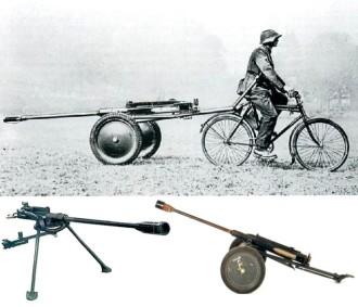 Bicicleta suíça para artilharia pesada