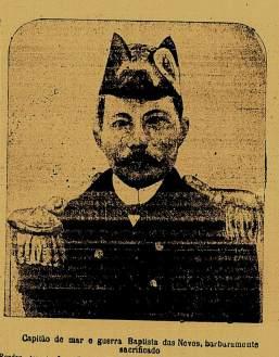 Oficial comandante Baptista das Neves, morto pelos marinheiros rebeledados