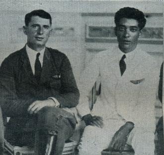 Na foto vemos o norte americano Walter Hilton e o cearense Euclides Pinto Martins, que possuía forte ligação com o Rio Grande do Norte – Fonte – Coleção do autor