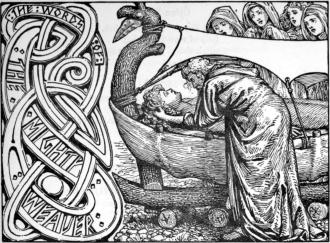 """""""As últimas palavras de Odin a Baldr """"(1908) por WG Collingwood"""