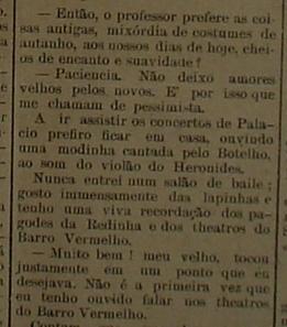 """Parte do relato do conhecido Professor Panqueca, publicado com destaque na primeira página da edição de 14 de dezembro de 1911 do jornal natalense """"A República"""""""