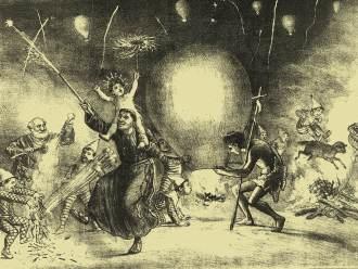 A apresentação teatral de 25 de dezembro de 1886 terminou com fogos e balões, quase uma festa junina.