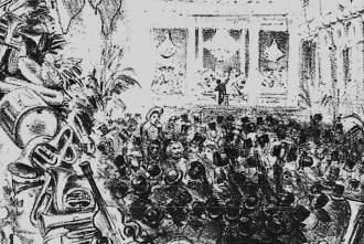 As imagens que aqui apresentam teatros e peças teatrais do século XIX, são da coleção da Biblioteca Nacional, mas servem apenas de caráter ilustrativo. Nenhuma delas mostra teatros em Natal no século XIX.