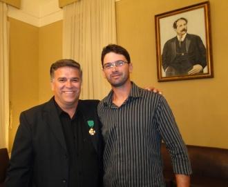 Con mi gran amigo de Argentina, una gran persona y un estudioso de la historia de la Segunda Guerra Mundial. Gracias por su participación en este evento German Zaunseder.