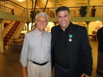 Aqui com o amigo Haroldo Pinheiro Borges, grande figura, grande simpatia, escritor de mão cheia e pesquisador de primeira.