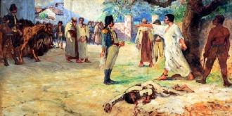 Tela do carioca de Niterói Antônio Diogo da Silva Parreiras (1860-1937) sobre a revolta de 1817