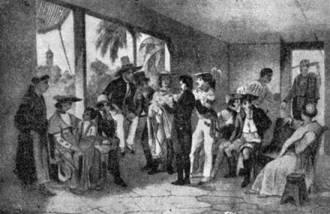Uma junta de revolucionários pernambucanos de 1817 - Fonte - http://www.novomilenio.inf.br/santos/h0184z15.htm