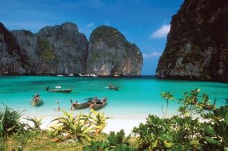 Beleza das Ilhas Phi Phi, na Tailândia - Fonte - http://designtendencia.pn5.com.br/