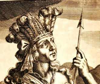 A figura de Atahualpa nos fornece outra visão sobre a conquista da América Espanhola. - Fonte - educador.brasilescola.com