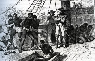 Navio negreiro - Fonte - www.revistadehistoria.com.br