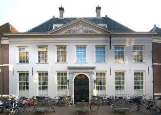 Prédio em Amsterdã, Holanda, sede histórica da Companhia das Índias Ocidentais, ou West-Indische Compagnie  - WIC