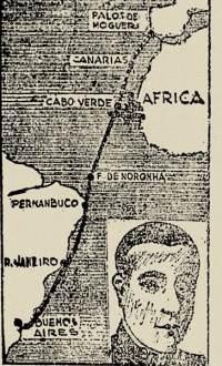 """A rota do """"Plus Ultra"""" em 1926"""