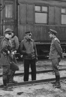 Militares russos durante a Segunda Guerra Mundial