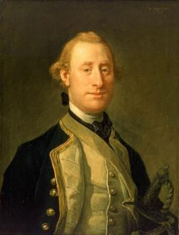 Capitão Sir Alexander Schomberg, avô do capitão do HMS Cormorant. Quadro de Willian Hogarth - Fonte - es.wahooart.com