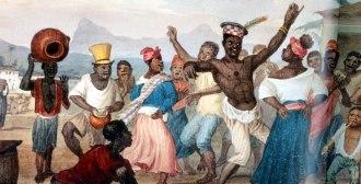Earle retrata uma dança popular no Rio de Janeiro no século XIX. Rítmos africanos fizeram parte da cultura musical de Barbosa desde a sua juventude.
