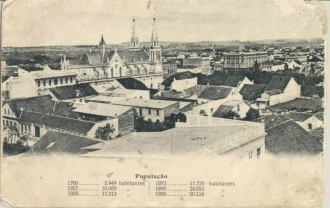 Curitiba início do século XX - Fonte - Wikipédia