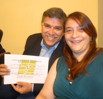 Feliz ao lado da minha mulher Isa Cristina.