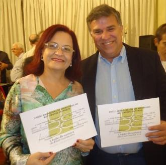 Junto a amiga Dione Maria Caldas Xavier