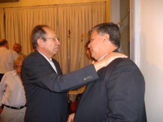 Junto ao Presidente da Academia Norte riograndense de Letras, o advogado e escritor Diógenes da Cunha Lima.