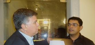 Junto ao escritor Thiago Gonzaga dos Santos.