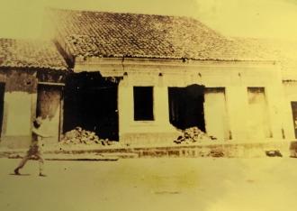 Casa de Marcolino Diniz, em Patos de Irerê, destruída pela polícia paraibana