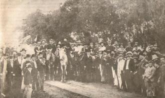 Entrada dos federalistas em Curitiba, Alm. Custódio de Mello e Gal. Gumercindo Saraiva Acervo do Museu Paranaense