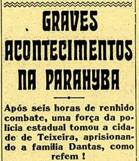 Nota de 1930 sobre o início da guerra de Princesa