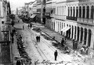 Curitiba no início do século XX - Fonte - curitibanosdasilva.blogspot.com