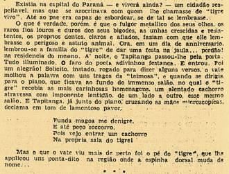 """Um """"causo"""" de joão da Tapitanga em Curitiba - Gazeta de Notícias, 15 de dezembro de 1935"""