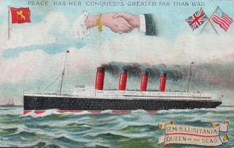 O Lusitânia, unindo pelo mar a Grã-Bretanha e os Estados Unidos