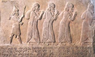 Representação do exílio judaico na Babilônia.