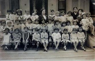 Imagem Meramente ilustrativa de uma escola brasileira nos anos 20 do século passado - Fonte - ieccmemorias.wordpress.com