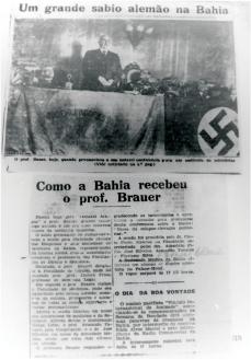 Estado da Bahia noticia a visita de Ludolph Brauer, da Universidade de Hamburgo, a Salvador em 1935