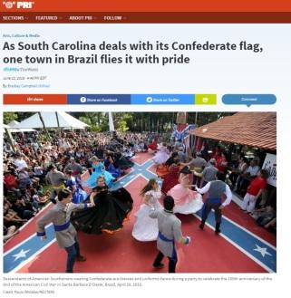 Reportagem sobre o uso de bandeira de Confederados dos EUA no Brasil