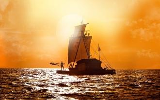 Uma recente película cinematográfica reproduziu a história da expedição Kon Tiki - Fonte -  httpwww.showfilmfirst.com