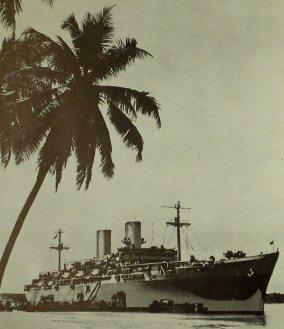Navio transporte de tropas USS General W. A. Mann. Em 1944 ele levou os primeiros combatentes da FEB para a Itália