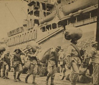 Brazilian Expeditionary Force shipping in Rio de Janeiro. Destiny - The Italian front.