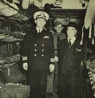 O capitão Paul Maguire e Getúlio Vargas no General Mann