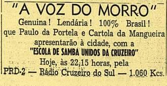 Em 1942 Cartola chegou a se apresentar em programas de rádio.