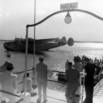 Seaplane at Potengi River. For the US government to Natal region is particularly important for its strategic position in the South Atlantic