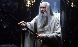 Lee atuando como Saruman - Fonte - www.theguardian.com