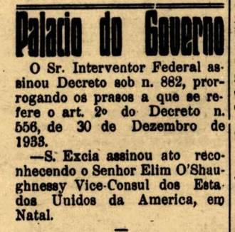 Jornal natalense A República, edição de 27 de dezembro de 1940, página 2.