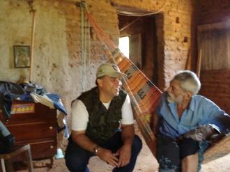 Junto ao Sr. Antônio Belo, do Sítio Tigre, que em agosto de 2009 me deu um fantástico depoimento