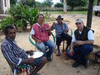 Percorrendo o caminho da Coluna Prestes no município de Luís Gomes - RN. parada para um cafezinho no Sítio Imbé, aqui o alto comando da Coluna Prestes, os