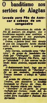 Jornal A República, Natal, edição de 12 de setembro de 1938