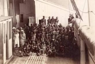 Escravos africanos na segunda metade do século XIX - Fonte - http://arquivo.geledes.org.br/